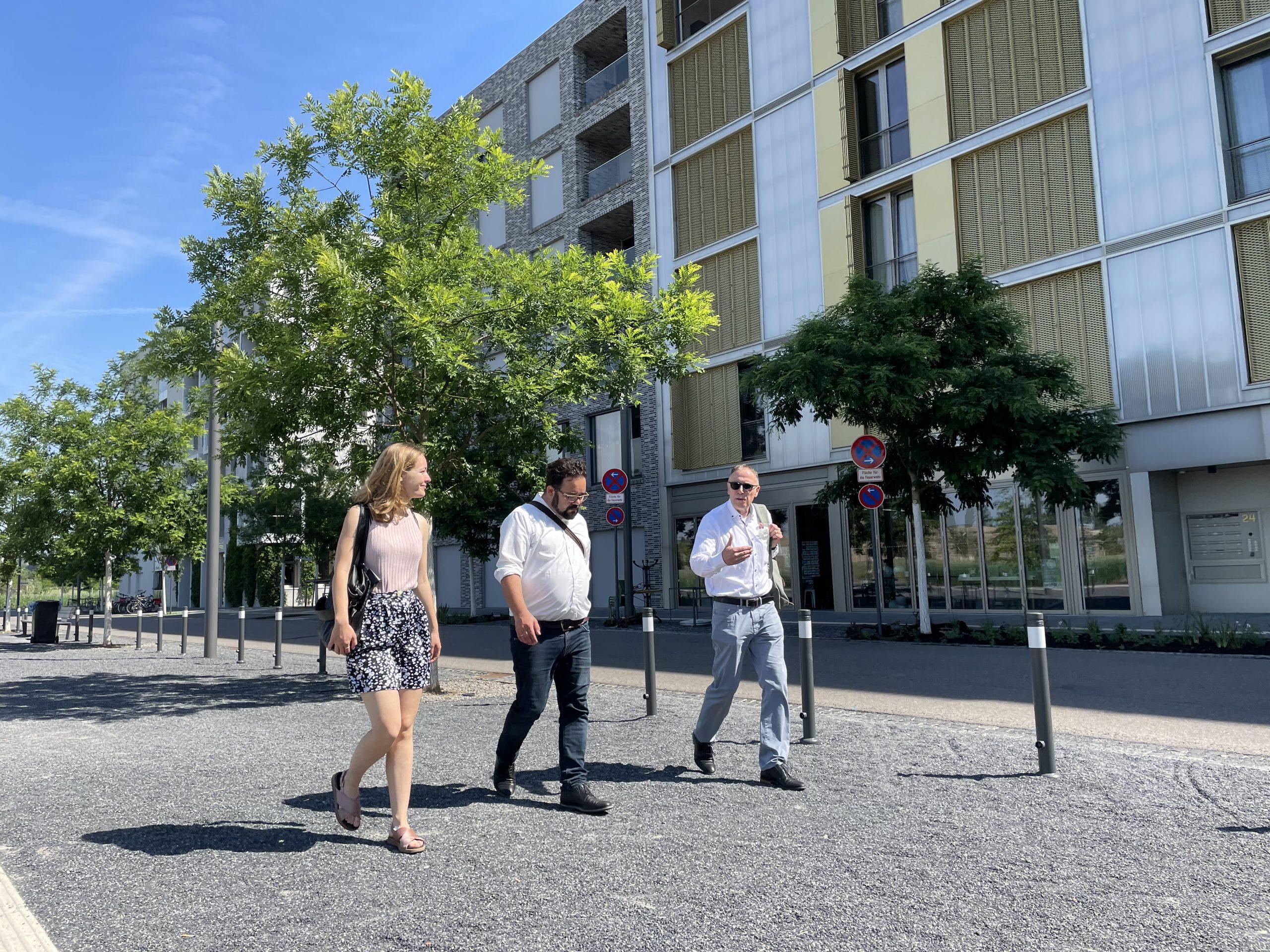 Der Wohnungsknappheit nachhaltig entgegentreten: Besuch von Chris Kühn MdB in Heilbronn