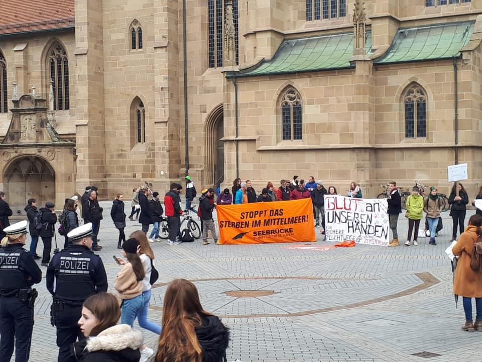 Rede: Demonstration von Seebrücke Heilbronn zur Situation an der EU-Außengrenze